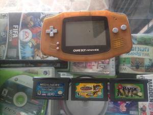 Game Boy Advance Con 3 Juegos