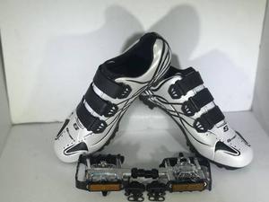 Combo Zapatillas Sl Ciclismo Mtb - Pedales Doble Funcion