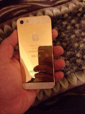 Iphone 5s 64gb Enchapado En Oro 24kt  Con Caja Y Todo