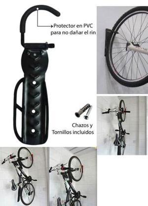Soporte De Pared Para Bicicletas +chazos+tornillo -negro