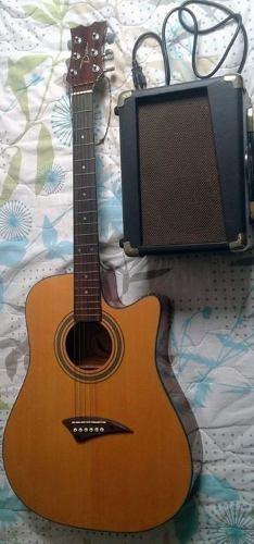 Guitarra Electo-acústica Dean Aep Y Amplificador Dean Da-20