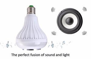 Bombillo Luz Led Multicolor Bluetooth Parlante No Control