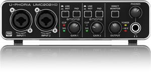 Interfaz Audio Usb Behringer Umc202 Hd