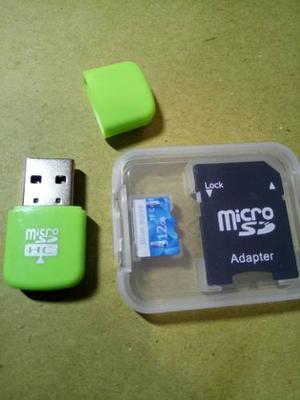 Memoria Micro Sd Card 512 Gb Clase 10 Hc Usb Y Sd Adapter