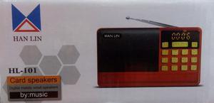 Radio Fm/usb Micro Sd/ Bateria Recargable Hl-101