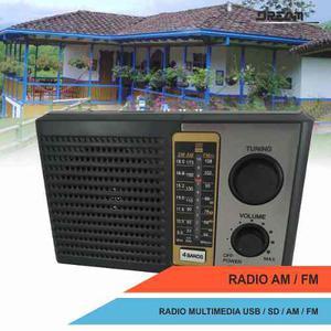 Radio Portátil Am / Fm / Usb / Sd Eléctrico Recargable