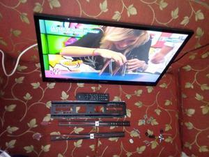 tv led de 32 pulgadas con soporte de pared como nuevo