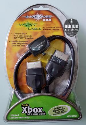 Cable Gameware Rca Vport Gp641xb Para Consola Xbox