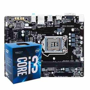 Combo Board Gigabyte Ga-h110m-h + Intel Core I