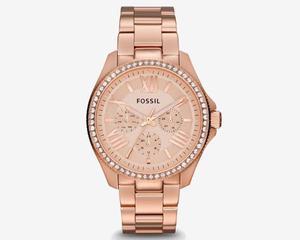 Reloj Fossil Para Mujer Cecile Oro Rosa, Am Original