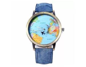 Reloj Hombre Mujer Viajeros Mapamundí Avión Envío Gratis.