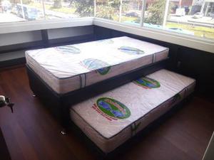 Cama auxiliar nido juego de alcoba colchones posot class for Medidas colchon cama sencilla