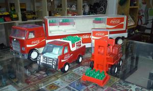 Diorama de reparto de coca cola juguete antiguo