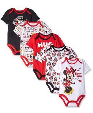 Disney Minnie Bodysuits Multi Red Ropa Bebe Niñas 3-18
