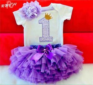 Tutus Para Bebé, Incluye Mameluco Y Balaca, Talla 12 Meses