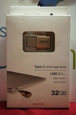 Memoria Usb 2 En 1 Adata Tipo C Y Usb Flash 3.1 De 32 Gb