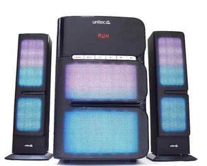 Parlante Multimedia 2.1 Woofer Iluminado 80 Rms Unitec