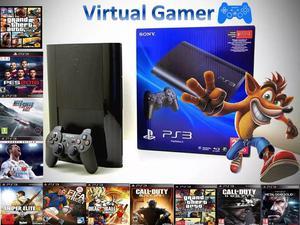 Play 3 PS3 Super slim 500 gb como NUEVO! con 60 SUPER