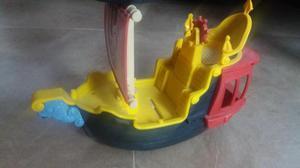Barco de capitan garfio, jake y los piratas