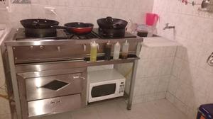 Estufa wok posot class for Menaje industrial