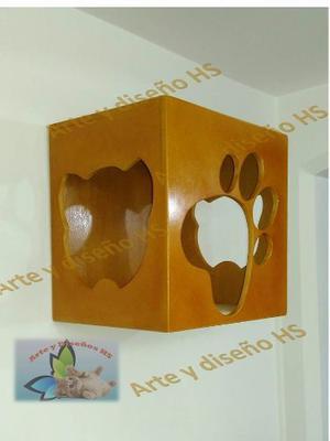 Gimnasios Para Gatos Arte Y Diseño, Casa De Pared O Piso