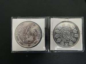 Moneda Encuentro De Dos Mundos. En Plata. Envío Gratis