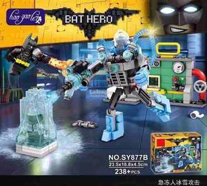 Batman La Pelicula Pelea Mr Frio Bloques Com/lego Ajd