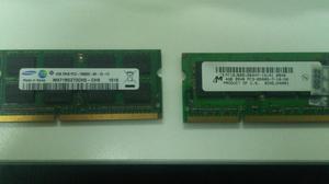 Dos Memorias Ram 4gb Ddr3