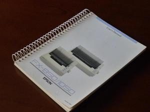 Manual de usuario original Impresora Epson Fx850 / Fx