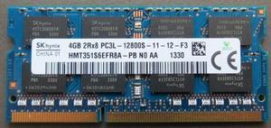 Memorias ram de portatil ddr3 pc3l de 2GB y 4GB con