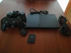 Ps2 con 2 Controles Memoria 5 Juegos