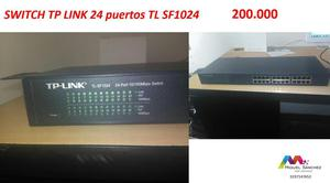 SWITCH TP LINK 24 puertos TL SF