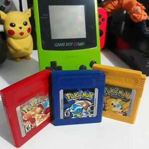 Game Boy Color 3 Juegos de Pokemon Origi
