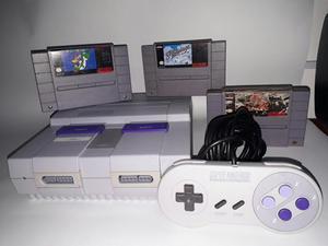 Super Nintendo Original con 3 Juegos