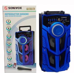 Cabina De Sonido Parlante Bluetooth Con Karaoke Y Luces Led
