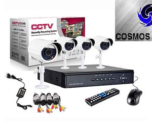 Kit DVR 4 Cámaras con 4 cámaras todo incluído