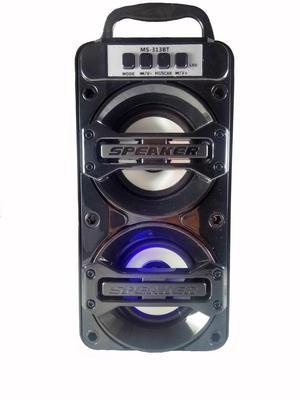 Cabina De Sonido Parlante Portatil Con Bluetooth Y Luces Led