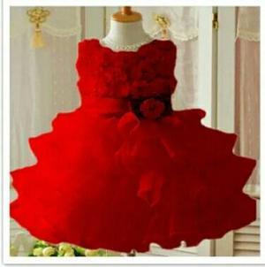 Vestido De Fiesta De Niña Rojo