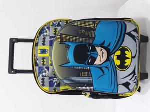 Maleta Ruedas Morral Escolar Dc Comics Batman
