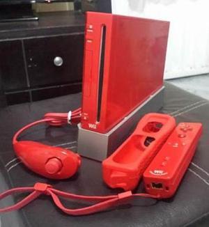 Vendo Nintendo Wii Rojo En Perfecto Estado Original