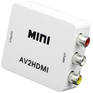 Mini Adaptador Convertidor Señal Rca Audio Y Video A Hdmi