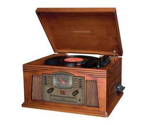 Tornamesa Tocadisco Crosley Vintage 5en1 Cd Caset Aux Lp Fm