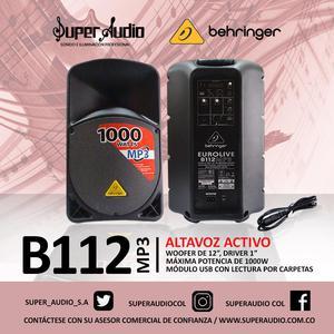CABINA ACTIVA 12 PULGADAS CON USB BEHRINGER B112MP3