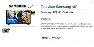SAMSUNG SMART TV DE 58 PRECIO PROMO