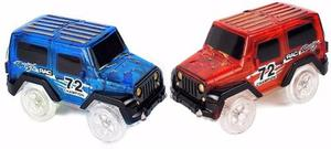 Carros Para Pista Magic Track,mige Light Up Toy Car(2-pack)