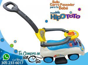 CARRO PASEADOR para Bebé, HipoToto, MÚSICA Y LUCES, Paseos