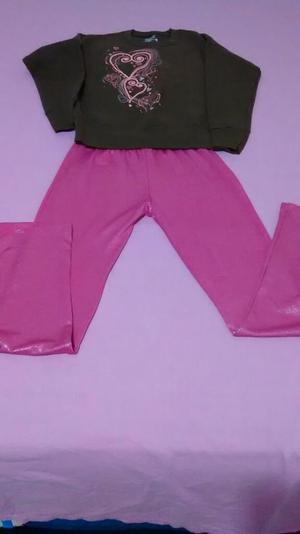 Pantalon Licrado Y Busito Talla 5