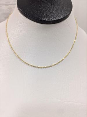 Cadena En Oro Amarillo 18k Para Mujer 40cm Ref: