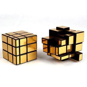 Cubo Rubik Qiyi Mirror 3x3 Speedcube Giro Suave Dorado