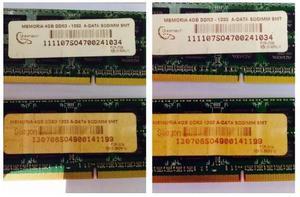 Memoria Ram 4 Gb Ddr Adata